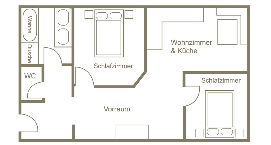 Pension Lech Umriss | Floorplan