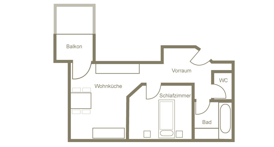 Pension Juliana Umriss | Floorplan Arlberg